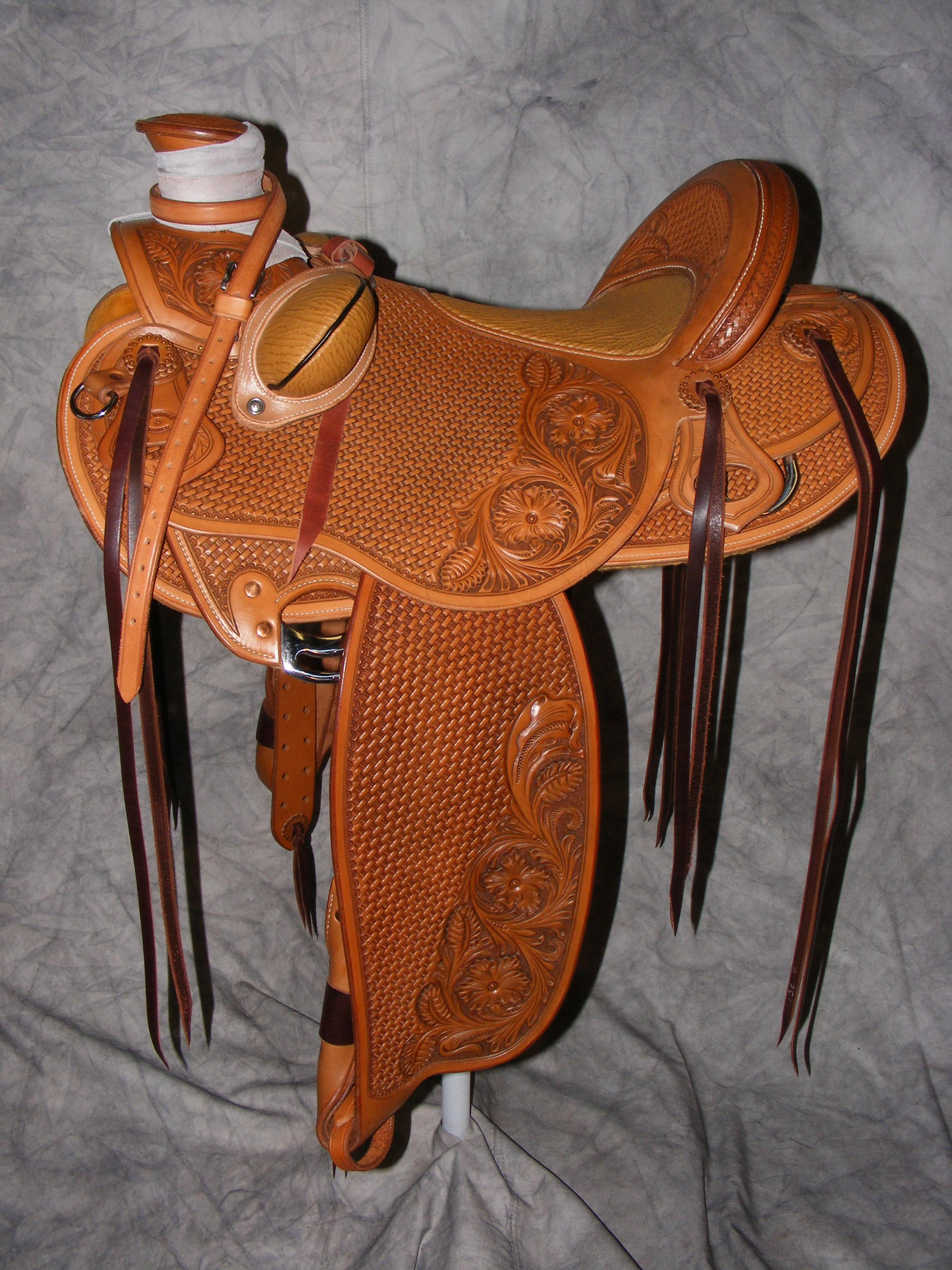Quality custom hand made Saddles cliff wade modified association